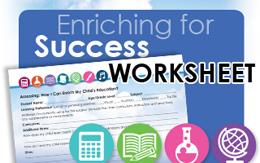 Enriching for Success Planning Worksheet